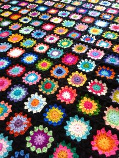 Granny crocheted afghan