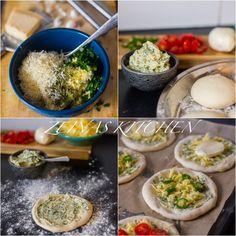 Vitlöksbröd - Zeinas Kitchen Mini Pizzas, Zeina, Palak Paneer, Mozzarella, Food Inspiration, Pesto, Chili, Parmesan, Ethnic Recipes