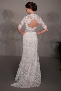 Jim Hjelm Bridal Gowns Spring 2012 and Fashion, Dresses, Bridal Gowns, Wedding Gowns, Lace Wedding, Wedding Bells, Backless Wedding, Wedding Wishes, Purple Wedding, Chic Wedding, Wedding Hair