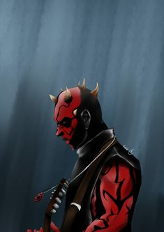 I had this idea on my mind… an AU where Maul is a part of a metal band as a guitarist. Images Star Wars, Star Wars Pictures, Star Wars Rebels, Dark Maul, Thor 2, Jedi Sith, Original Trilogy, Star War 3, Star Wars Art