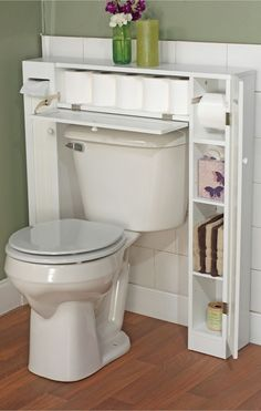 Bathroom Space Saver // clever design storage solution!
