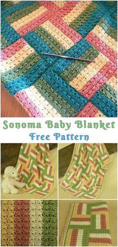 Sonoma Baby Blanket Free Crochet Pattern