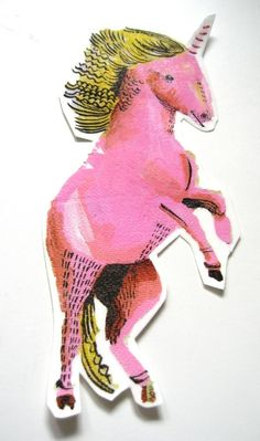 Unicorn by Julia Pott (Juliapott etsy) Love Illustration, Botanical Illustration, Unicorns, Real Unicorn, Happy Unicorn, Unicorn Tattoos, Illustrations, Magical Creatures, Cute Wallpapers