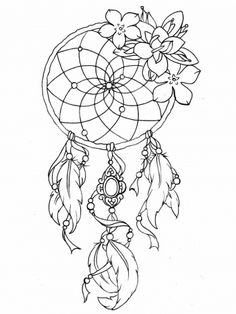 Tattoo Coloring Book Pages Best Of Dreamcatcher Tattoo Designs Tattoos Adult Coloring Pages Dream Catcher Coloring Pages, Dream Catcher Drawing, Dream Catcher Tattoo Design, Dream Catchers, Dream Catcher Painting, Atrapasueños Tattoo, Tattoo Hals, Mandala Tattoo, Tattoo Free