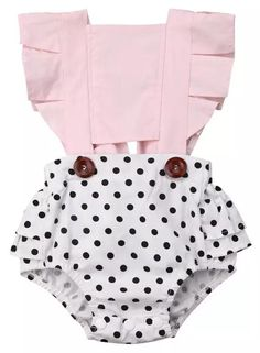 Toddler Baby Girl Summer Clothes Ruffles Backless Romper Bodysuits Polka Dot Floral Outfit One Piece Jumpsuit Clothes Baby Outfits, Girls Summer Outfits, Summer Girls, Kids Outfits, Summer Clothes, Baby Girl Fashion, Kids Fashion, Fashion Outfits, Fashion Clothes