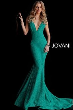 Jovani 47075 Wine long sleeveless plunging neckline dress with a train. 9b21fb4cc