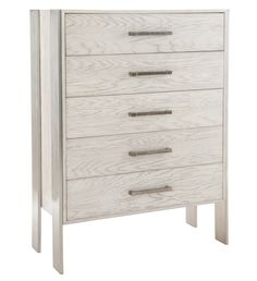 Tall Chest | Bernhardt. Item 369-118 Dimensions W:  42-5/16 D:  19 H:  56 W:  107.47 D:  48.26 H:  142.24