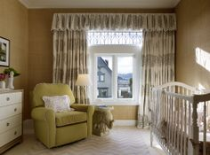 Nursery by  Palmer Weiss Interior Design - Les Indiennes Curtains