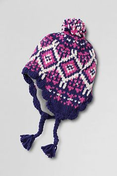 cf44a00b63d Girls  Fair Isle Trapper Hat from Lands  End