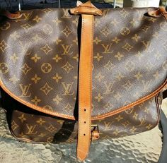 Authentic Louis Vuitton Monogram Saumur 35 by BPepGoods on Etsy Louis  Vuitton Monogram cfe809e8038