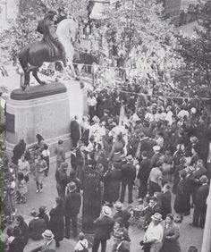 The Paul Revere Statue was formally revealed in a ceremony on Sunday September 22, 1940 at 2:30pm, The Prado, Boston, MA