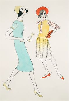 Fashion Illustration by Andy Warhol (1928-1987), 1952-62, Bang! Early Pop Drawing.