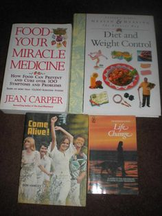 Bundle of 4 Health Related Books - Mixed Lot of hard and paperback books