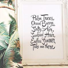 Print by Honey and Fizz Endless Summer. A cute by HoneyandFizz