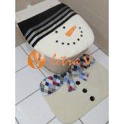 Conjunto de Banheiro Boneco de Neve - Letra V