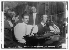 Smithsonian-Men using radio technology circa 1910-1915, called Wireless Telephone at the time (Library of Congress)