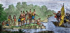 First contact between native americas and spanish