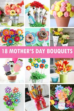 Mothers Day Gifts – Page 7506485407 – Gift Ideas Anywhere Diy Mother's Day Bouquet, Gift Card Bouquet, Felt Flower Bouquet, Making A Bouquet, Diy Crafts For Teen Girls, Diy And Crafts Sewing, Fun Crafts For Kids, Booze Bouquet, Mothers Day Chocolates