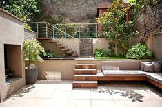Image result for contemporary built in garden