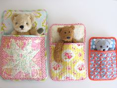 Three Bears' Sleeping Bag Pattern (suitable for stuffed toys and dolls) by MadebyFlorence on Etsy