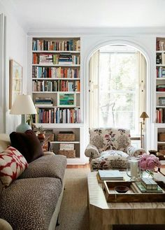 Like the bookcases either side of the beautiful archway