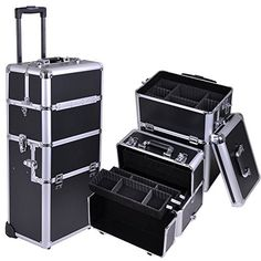 Professional Rolling Makeup Case (Black PVC Leather) * Continue to the product at the image link.