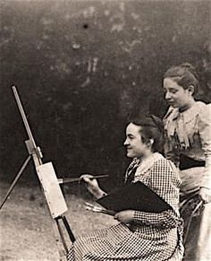 Céline au Chevalet à la Musse (détail) ACL with Marie Guerin