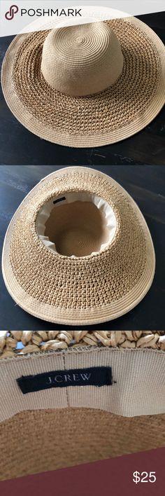 c51358a485827 J Crew Factory Floppy Straw Sun Hat