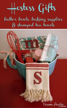 Vanessa Shaffer Designs: Hostess Gift Idea U0026 Stamped Tea Towel Tutorial. Baby  Shower ...