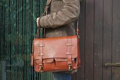 messenger bag by malafola - vegetable tanned cowhide leather