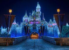 Disneyland's Sleeping Beauty Castle at Christmas 2012   (Courtesy of: https://www.facebook.com/ToursDepartingDaily)