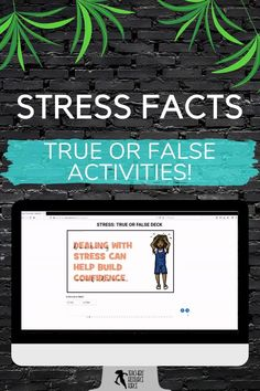 "Are you looking for something fun to assign your students as a bit of an academic break while still being valuable and that can be completed online with no resources required whatsoever? Then look no further than this online true or false web deck online game - this topic concentrates on facts about ""stress"". #stress #distancelearning #trueorfalse Behaviour Management, Behavior, Teaching Resources, Teaching Ideas, Secondary Teacher, Dealing With Stress, Home Schooling, High School Students, Online Games"