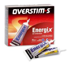 Gel líquido Overstims Energix. El Energix es el gel energético adaptado para las pruebas de maratón, carreras de montaña, ciclismo, mountain bike, triatón,... Contiene tres tipos de carbohidratos (maltodextrina, jarábe de glucosa y fructuosa) que garantizan una eficacia durante todo el esfuerzo. Además es rico en vitamina B1 y B6 que ayudan a la utilización de la energía.