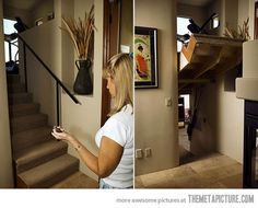 The secret room under the stairs