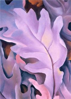 Purple Leaves= Georgia O'Keefe. Love her...would love to go back to the museum in Santa Fe one day. What a cool town
