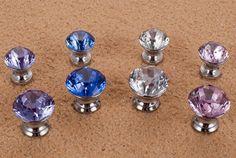 UNILOCKS 10Pcs/Lot 25mm Diamond Crystal Shape Glass Cupboard Wardrobe Cabinet Door Drawer Knobs Pull HandleS Pink - ICON2 Luxury Designer Fixures  UNILOCKS #10Pcs/Lot #25mm #Diamond #Crystal #Shape #Glass #Cupboard #Wardrobe #Cabinet #Door #Drawer #Knobs #Pull #HandleS #Pink