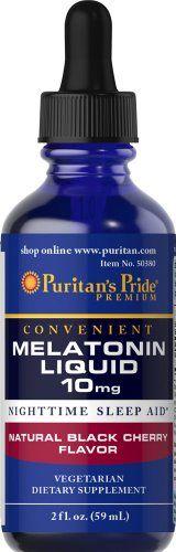 Melatonin Black Cherry Liquid 10 mg-2 oz Liquid