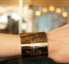 NYC Metro Cuff in 18K Gold. For NYC loving fashionistas