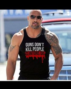 Guns don't kill people, Clintons do Good for you Dwayne Johnson to go against your peers and speak the truth. The Rock Dwayne Johnson, Dwayne The Rock, Rock Johnson, Guns Dont Kill People, Funny Memes, Hilarious, Political Quotes, Conservative Politics, American Pride