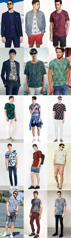 Men's Printed T-Shirts Outfit Inspiration Lookbook