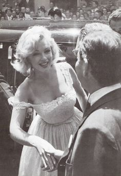 On July 2nd 1957, Marilyn arrives to help break ground for the Time-Life Building near Rockefeller Center.