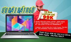 Giảm giá dịch vụ sữa chữa phần cứng laptop điện thoại HPCOM