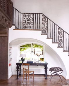 iron staircase detail (reese witherspoon in Elle Decor)
