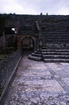 Theatre Vomitorium (Exit), Pompeii by TyB, via Flickr