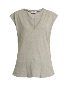 Click here to buy Frame V-neck cotton-jersey T-shirt at MATCHESFASHION.COM