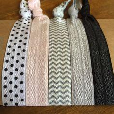 Items similar to Hair Tie Bracelets: Amy / Creaseless Hair Ties on Etsy