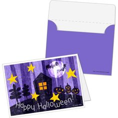 メッセージカードセットhalloween0004,ミニカード,カード,ハロウィン,紫,イラスト,季節のイベント