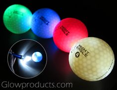 Night Eagle LED Golf Balls uses a new light activation technology! Shine a bright flashlight at the 'activation' circle to turn on and off. No timers! No inserts! https://glowproducts.com/us/light-up-led-golf-balls #golf #nightgolf #golfball #nightactivity