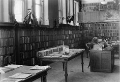 Interior of Woodstock Public Library - 1935