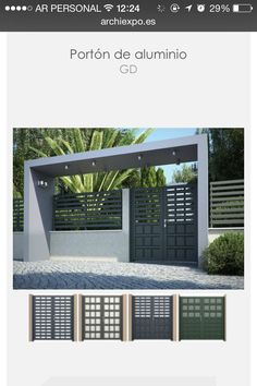 Entrada Gate Wall Design, Exterior Wall Design, Steel Gate Design, Front Gate Design, House Gate Design, Gate House, House Front Design, Modern Entrance Door, Main Entrance Door Design